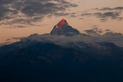 Fishtail, Nepal, Himalaya, Machapuchare, Scenery