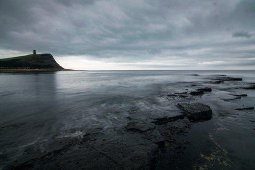 Kimmeridge, Rock, Dorset, England, Coast, Sea, Bay