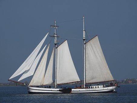 Ship, Sailing, Boat, Sea, Sail, Water, Sail Boat