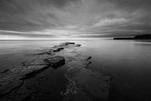 Kimmeridge, Rock, Seascape, Sea, Dorset, England, Coast