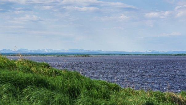North, Salekhard, Ob, Horizon, Sky, Russia, Landscape