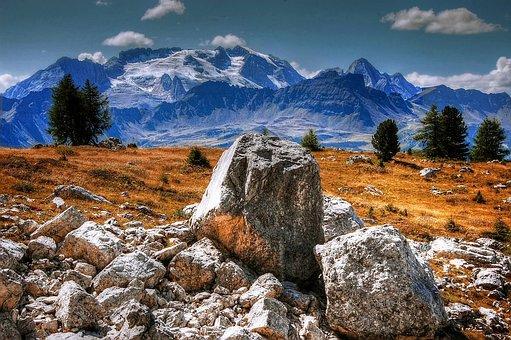 Dolomites, Marmolada, Italy, South Tyrol, Mountains