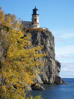 Split Rock, Lighthouse, Lake Superior, Lake, Superior