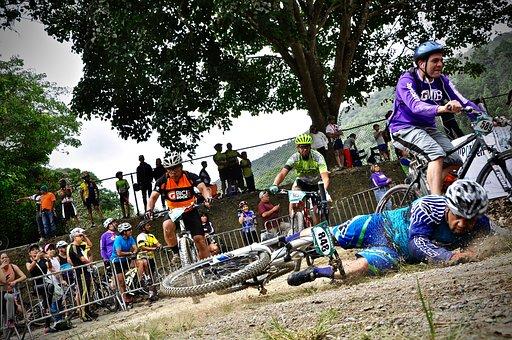 Bike, Dust, Fall, Bicycle, Cycle, Stamp, Machine, Rider