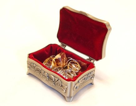 Jewellery, Casket, Treasure Chest, Treasure, Decoration