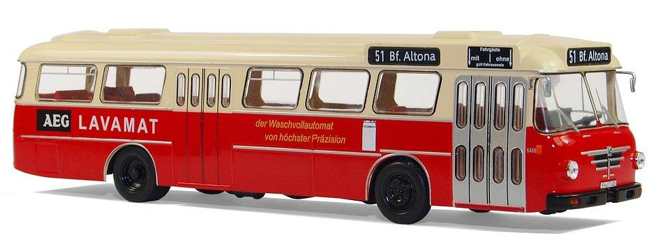 Model Buses, Büssing, Type Senator 12 D, 1964, Hobby