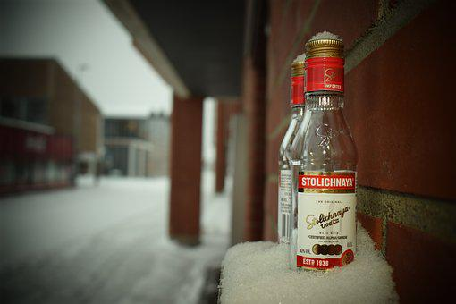 A Bottle Of, Vodka, Winter