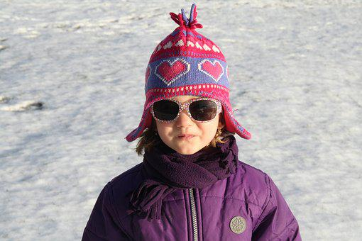 Child, Winter, Snow, A Cap