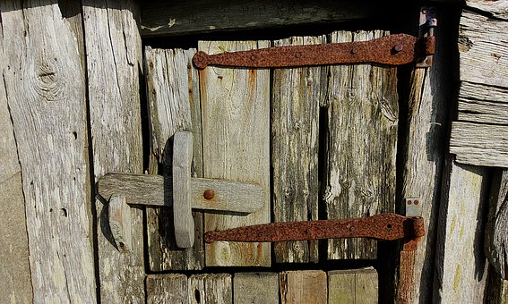 Door, Old, Doorway, Hatch, Rustic, Latch, Wood, Wooden