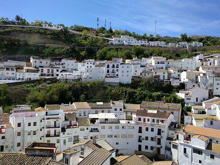 Setenil, People, Andalusia, White Houses, Landscape
