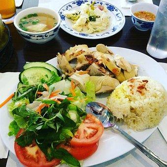 Rice, Chicken, Salad, Vietnamese Food, Asian, Vegetable
