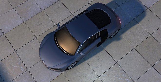 Audi, R8, Sports Car, Topview, Auto, Automobile