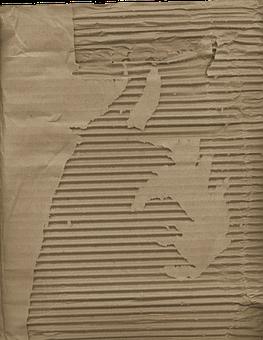 Corrugated, Cardboard, Packaging, Brown, Paper, Torn