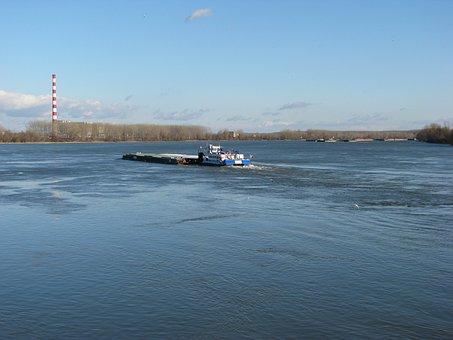 Danube, River, Serbia, Novisad, Boat, Water