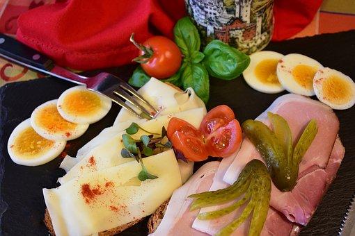 Snack, Cheese, Sausage, Ham, Wreak, Enjoy, Eat, Meal