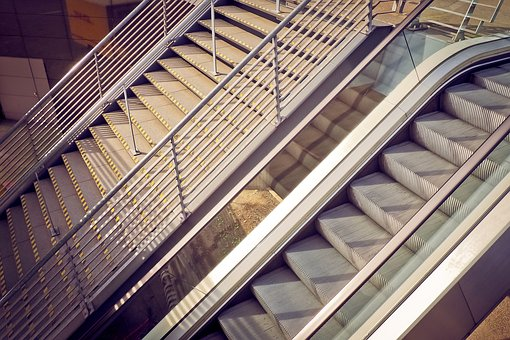 Architecture, Stairs, Escalator, Gradually, Building