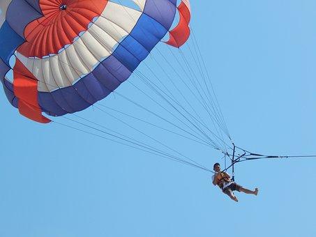 Parachute, Sky, Air, Fly, Extreme, Sport, Adventure
