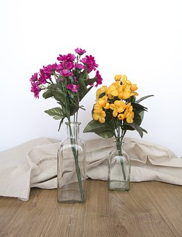 Flowers, Table, Wood, Spring, Tissue, Decoration