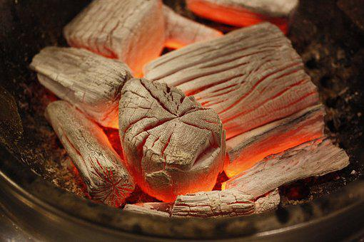 Charcoal, Grilled, Fire, Barbecues, Coal, Wood, Furnace