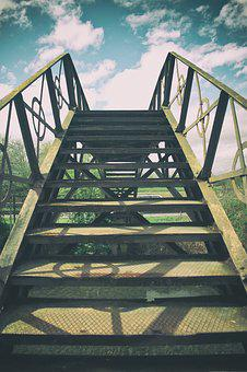 Stairs, Increase In, Gradually, Rise, High, Up