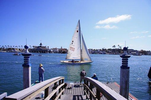 Balboa, The Island Of Balboa, Island, Yacht, California