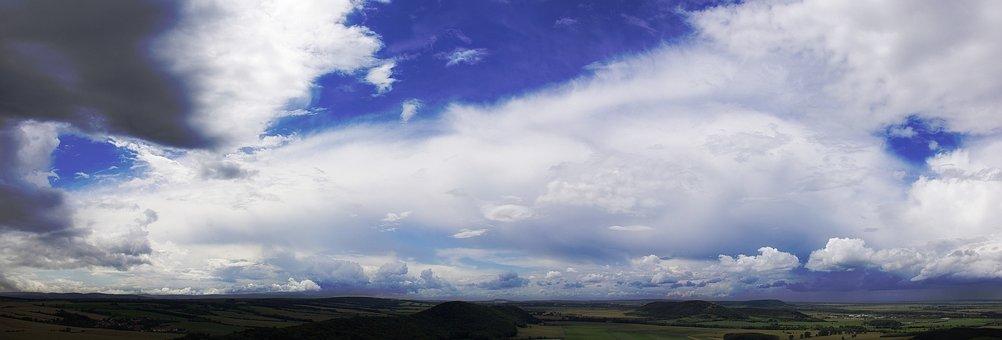 Clouds, Sky, Blue, Landscape, Clouds Form, Covered Sky