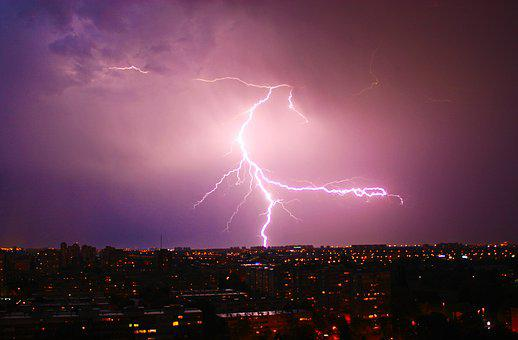 Night, Thunder, Lig, Lightning, Storm, Weather