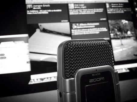 Microphone, Audio, Sound, Recording, Music