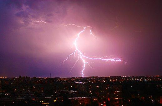 Night, Thunder, Lig, Lightning, Storm, Weather