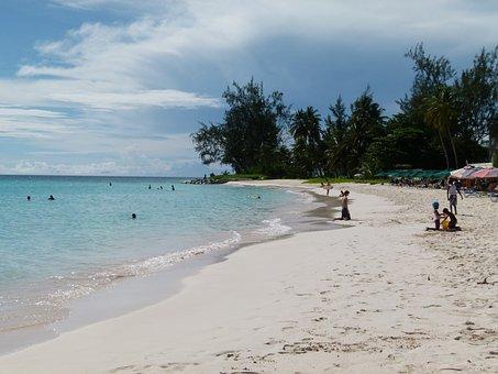 Beach, Sea, People, Barbados, Accra, Ocean, Sand, Water