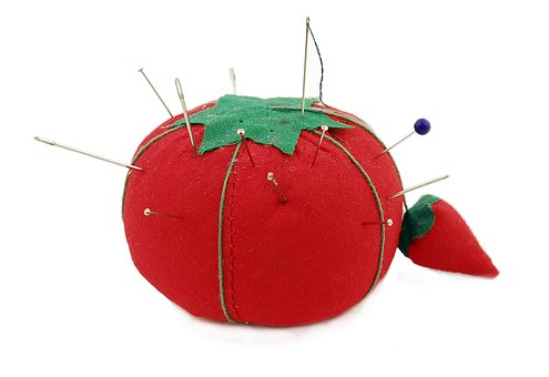 Pincushion, Tomato, Needles, Sewing, Sew, Pin, Cushion
