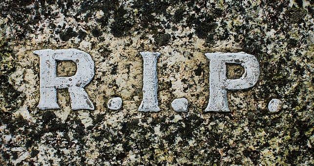 Rip, R, I, P, Rest In Peace, Death, Memorial, Prayer