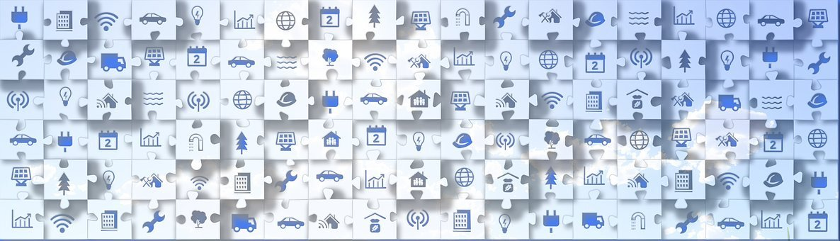 Puzzle, Icon, Blue, Sky, Ecology, Business, Travel