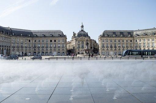Bordeaux, Water Mirror, Square, Autumn, France