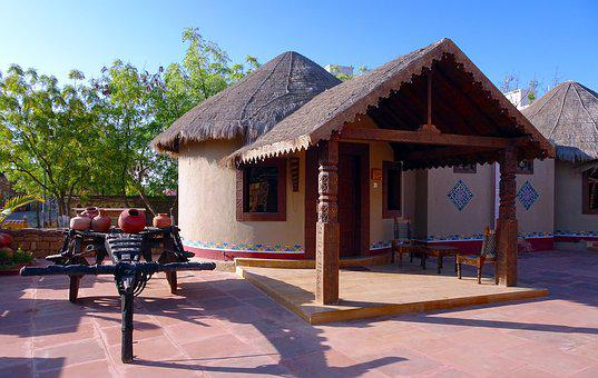 Hut, Bhunga, Rustic, Kachchh, Kutch, Traditional, Mud