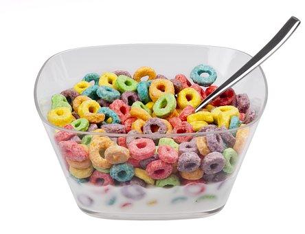 Food, Eat, Diet, Froot Loops, Cereal, Bowl