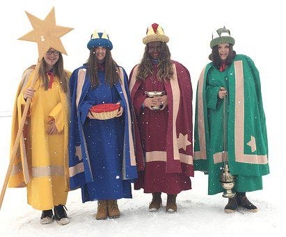 Holy Three Kings, Holiday, Costumes, Panel, Customs
