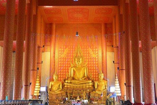 Buddha, Buddhism, Architecture, Golden, Meditation