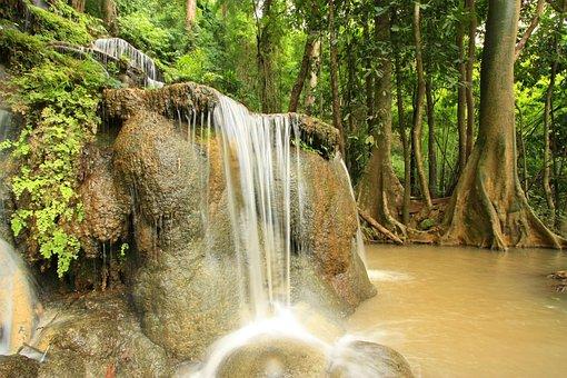 Waterfall, Nature, Green, Outdoor, Fresh, Stone