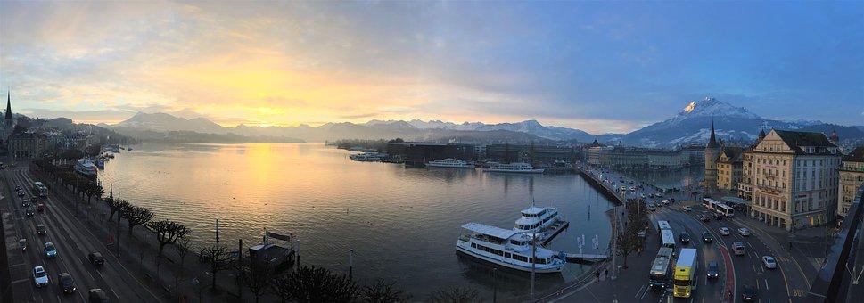 Panorama Of Lucerne, Lake Lucerne Region, Lucerne