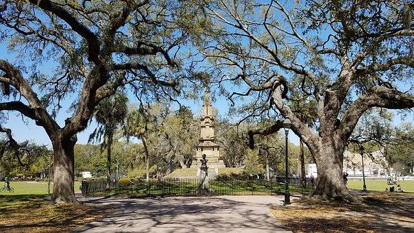 Forsyth Park, Savannah Ga, Landmark, Scenic, Tourism