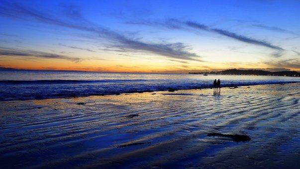 Los Angeles, Santa Barbara, Beach, Sunset