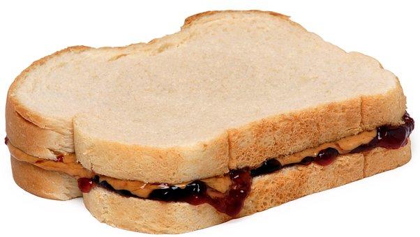 Food, Eat, Diet, Peanut, Butter, Jelly, Sandwich