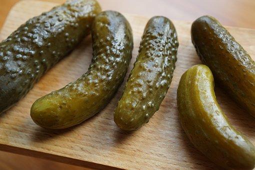 Pickled Cucumbers, Silage, Green, Cucumbers, Cucumber