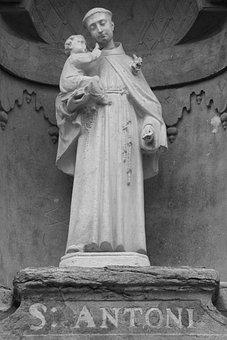 Saint Anthony, Statue, Holy, Catholic, Image, Religion
