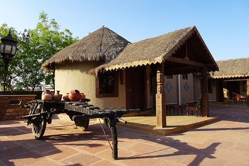 Hut, Rustic, Thatched, Bhunga, Resort, Tourism, Bhuj