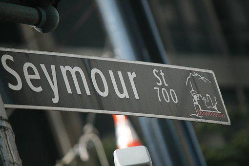 Street Sign, Street Name, Road Sign, Seymour