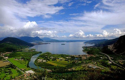 Lago Maggiore, Italy, Distant View, Verbania, Stresa