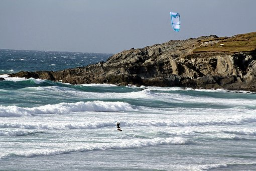 Surf, Water Sports, Windsurfer, Cornwall