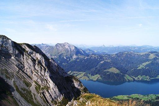Bock Mattli, Switzerland, Alpine, Mountains, Lake